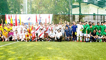 Football tournament among Embassies took place as part of the XXX All-Russian Olympic Day